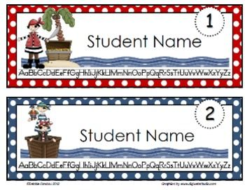 FREE variety of color pirate name tags