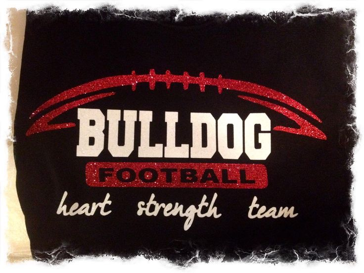 Bulldogs Football Shirt by MamaGlitter on Etsy https://www.etsy.com/listing/226516362/bulldogs-football-shirt