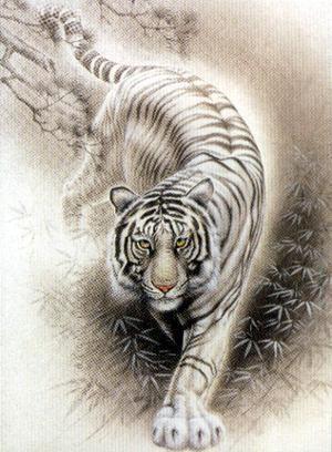 Tiger walking downhill tattoo - photo#15