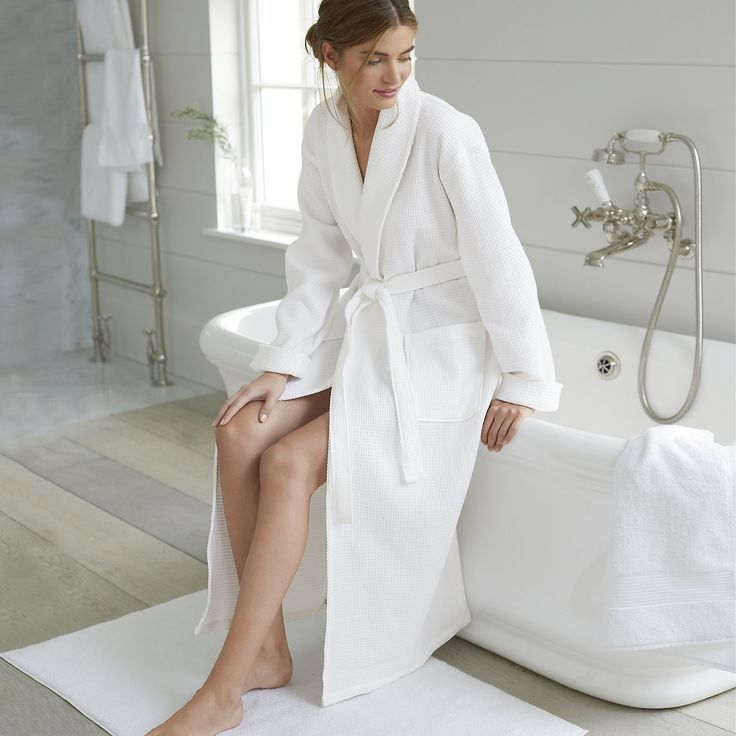 Unisex Waffle Terry Robe | Robes & Slippers | Nightwear | Clothing | The White Company UK
