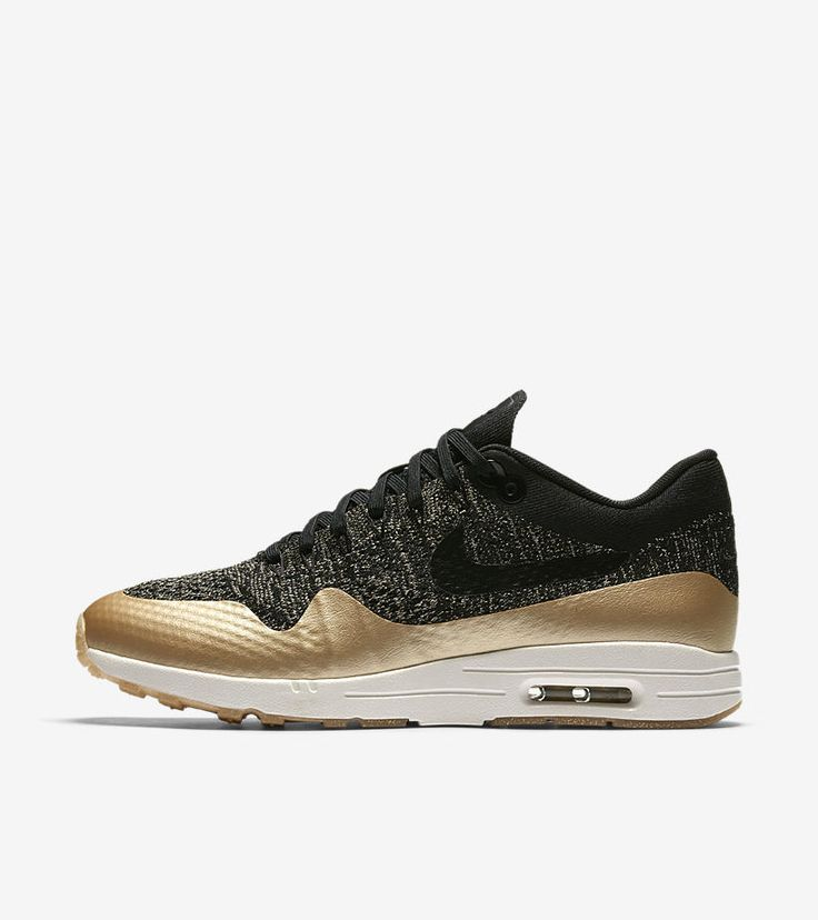 Buy authentic Nike Air Max 1 Ultra Flyknit Metallic Black/Metallic Gold  Star/Flat Opal Womens Shoes - only Fast shipping on all latest Nike  products.
