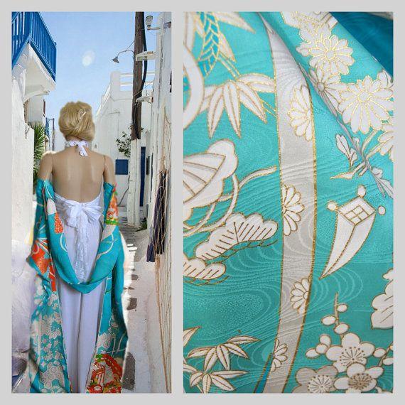 Off shoulder Cape Silk Kimono Designer Top Crop by EventOutlet