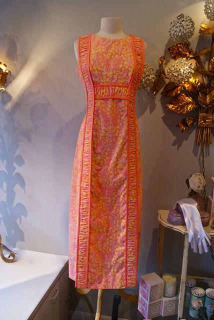 Lily Pulitzer 60's floral maxi dress