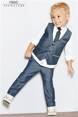 Buy Signature Shirt, Waistcoat And Tie Set (3mths-6yrs) from the Next UK online shop