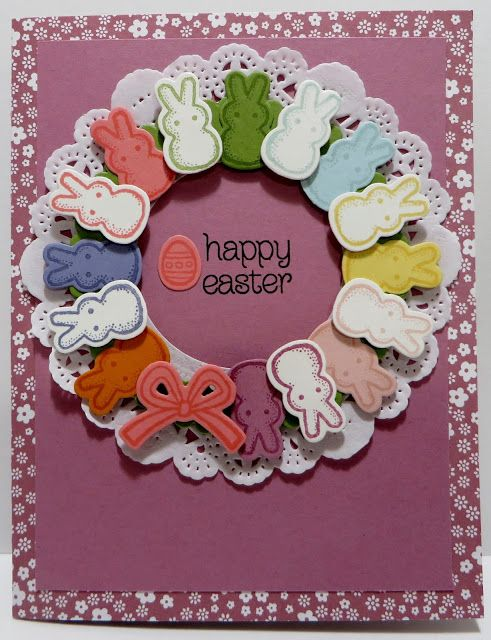 Lynn's Locker: Stampin' Up Basket Bunch, Circle of Spring, Greatest Greetings, Basket Builder, Layering Circles, Lots of Labels