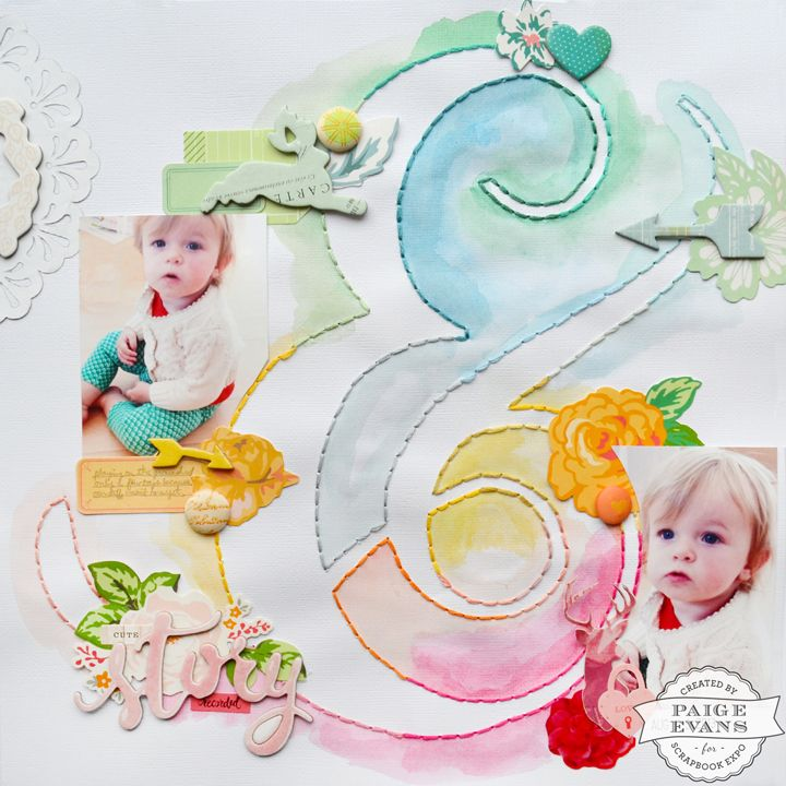 Cute Story Recored by @paigeevans for Scrapbook Expo #scrapbooking