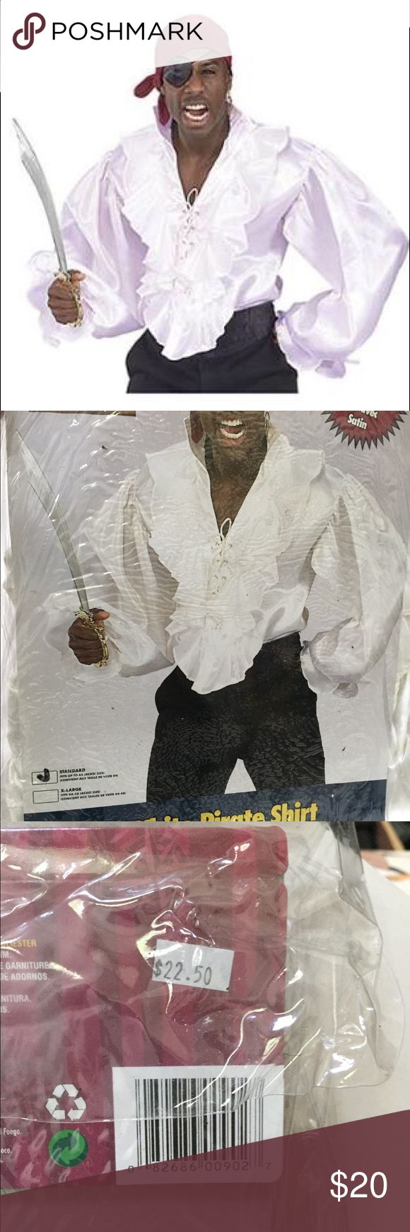 Satin Pirate (Seinfeld?) Shirt Rubie's Costume Co. Satin Pirate shirt, white. You CAN pull this off! Rubie's Shirts