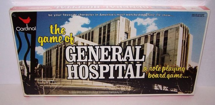 Vintage The Game of General Hospital Role Playing Board Game 1982 NIB Sealed  #CardinalIndustries
