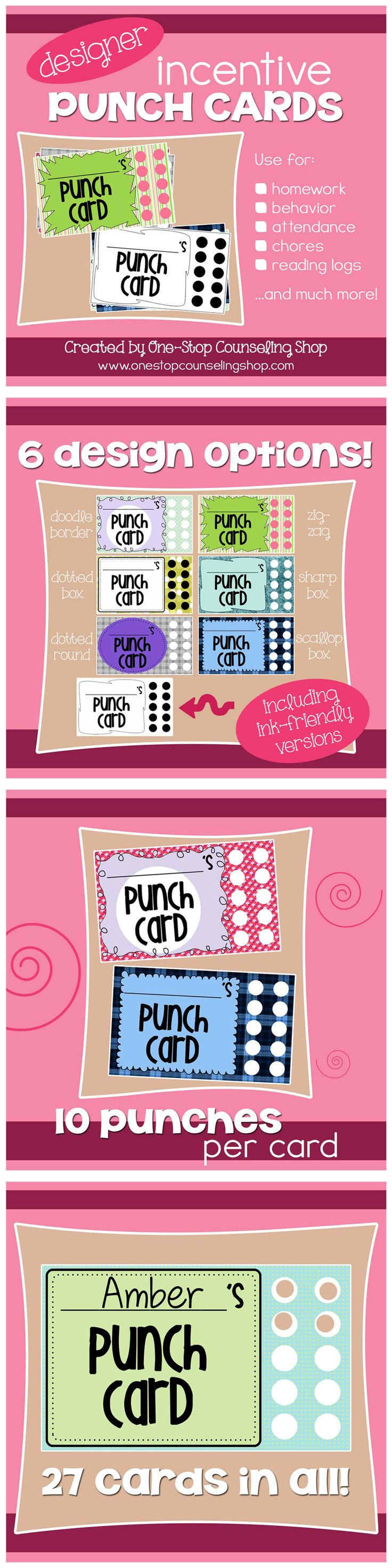best 25 behavior punch cards ideas on pinterest
