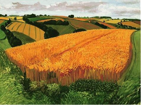 Wheat Field near Fridaythorpe, David Hockney (August 2005). http://www.art2arts.co.uk/blog/2012/01/david-hockney-ra-a-bigger-picture/