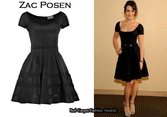 In Lea Michele&39s Closet – Zac Posen Black Full-Skirted Dress  Zac ...