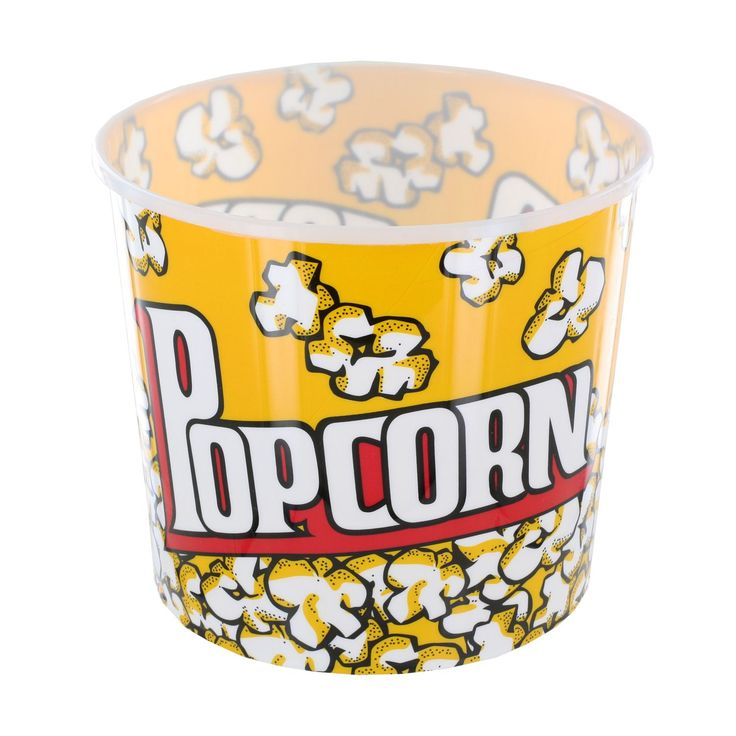 Regent Large Yellow Cinema-Style Popcorn Holder Bucket (Popcorn Holder Bucket, Yellow)