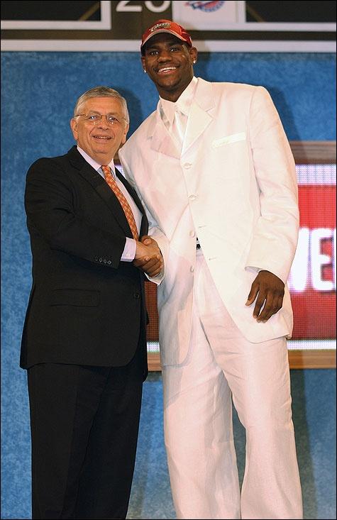 LeBron James Cleveland Cavaliers NBA Draft David Stern