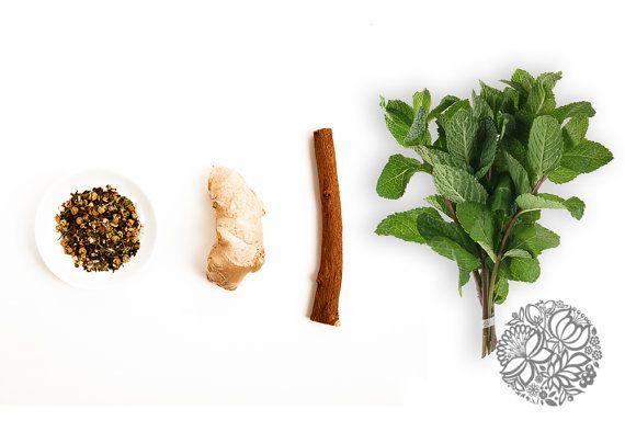 Tummy Tamer Organic Herbal Tisane by CottageBotanicalFarm www.cottagebotani... @CottBotanicals #CottageBotanicals