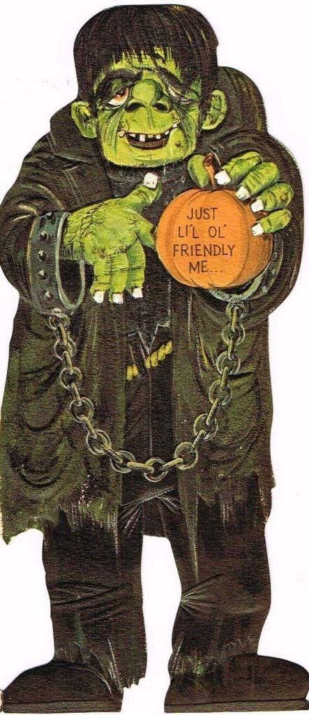 1960's Halloween Card: