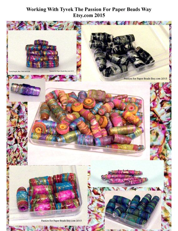 563 best paper beads images on pinterest paper beads bead working with tyvek the passion for paper by passionforpaperbeads malvernweather Gallery