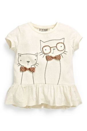 Buy Textured Cat Peplum Top (3mths-6yrs) from the Next UK online shop