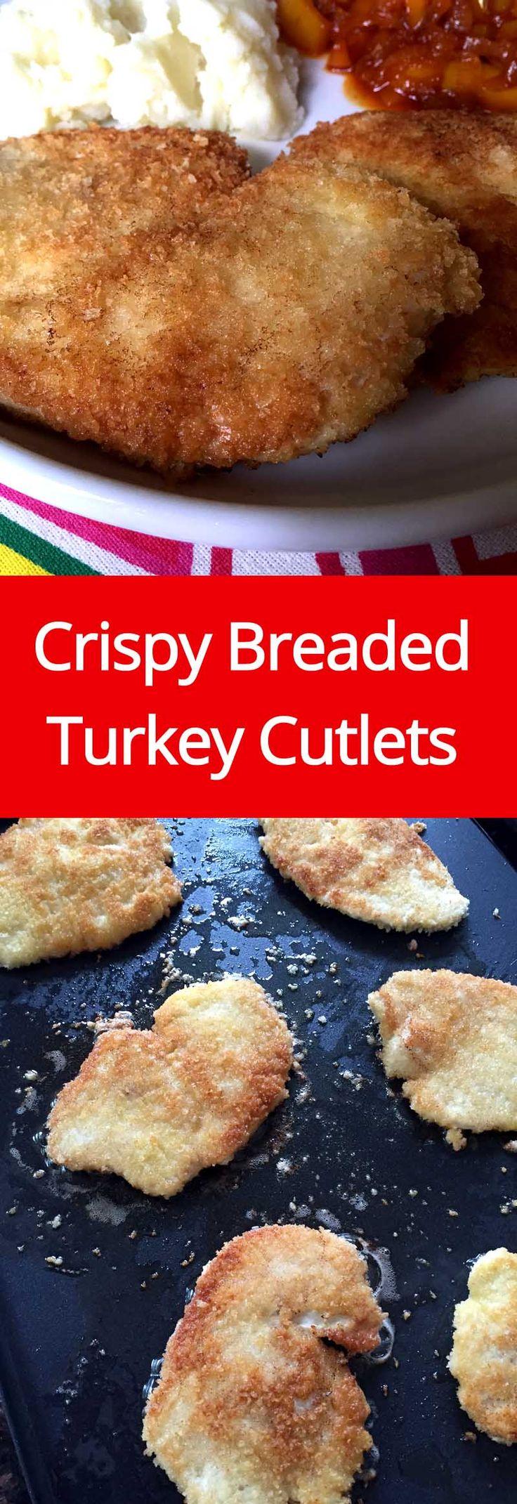 Crispy Panko Breaded Pan-Fried Turkey Cutlets Recipe   MelanieCooks.com