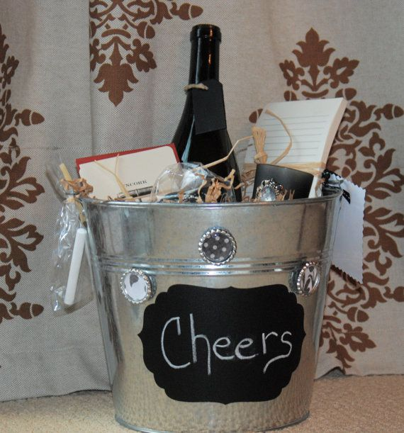 Christmas Gift Ideas For Design Lovers: Wine Lovers Gift Bucket By Aandkaccents On Etsy, $35.00