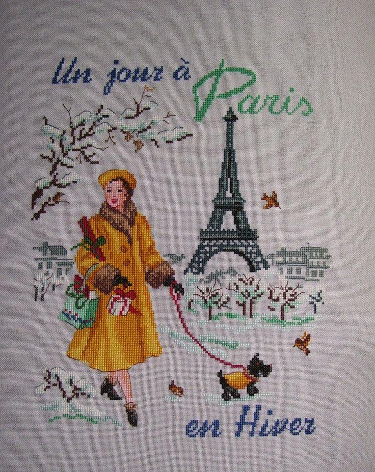 Az én KINCSESLÁDÁM !: Les brodeuses Parisiennes -- Un jour a Paris en Hiver