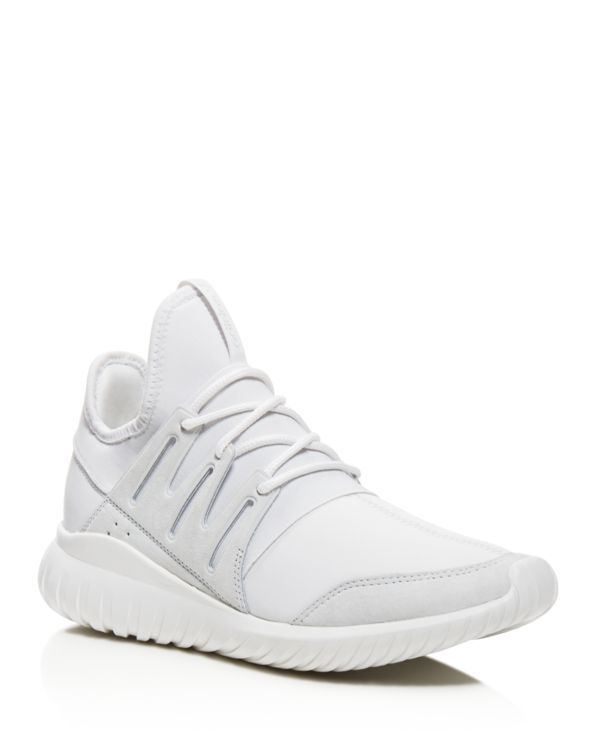 Adidas Tubular Radial Sneakers | Upper: leather/textile; lining and inner  sole: