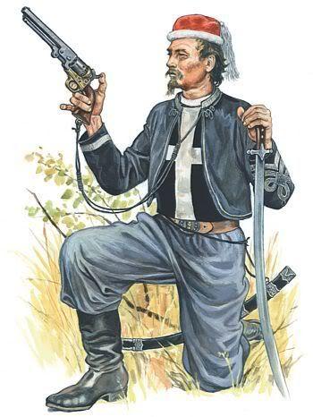 Oficer żuawów śmierci.1863r.