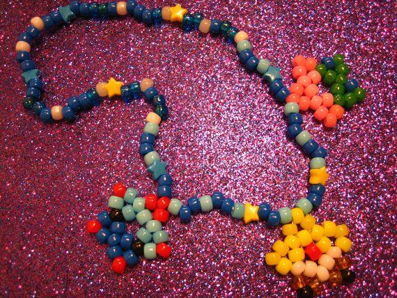 Kandi Pony Beads And Rave: Spongebob And Friends STAR Kandi Necklace Rave By