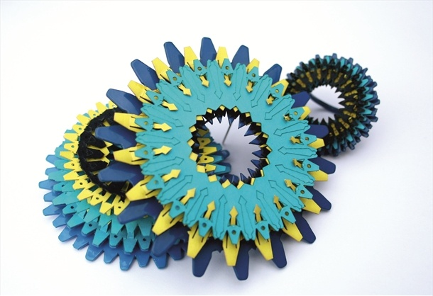 Amanda Trimmer - metal and paper jewellery