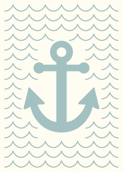 Cclassy anchor art print