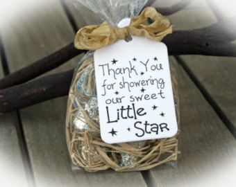 Twinkle Twinkle little star Baby Shower Favor | Twinkle Twinkle Little Star Shower | Baby Shower Favor | 25 DIY Kits/Ivory Tag/Ribbon