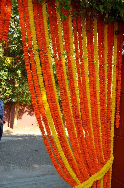 27 best images about marigold decor for wedding on for Artificial flowers for home decoration india