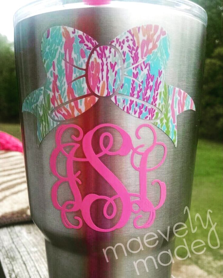 We are in love with Jessica's Yeti with Lilly Pulitzer Let's Cha Cha on the bow.  Thx for sharing, Jessica!  You'll find our All About Lilly collection at Maevelymade when you click on the pic!  xoxox