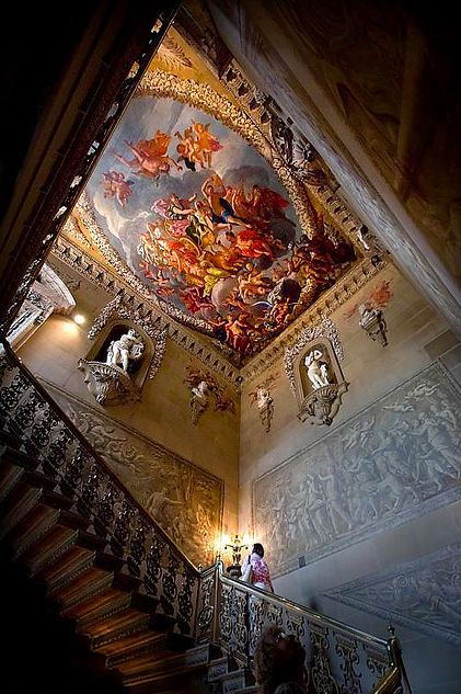 Staircase from Chatsworth House, England.