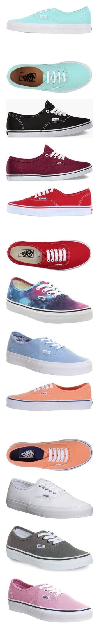 """""""PolyData: Happy 50th Anniversary, Vans!"""" by polyvore ❤ liked on Polyvore featuring polydata, shoes, sneakers, vans, blue, light green, round toe sneakers, flat sneakers, blue shoes and round cap"""