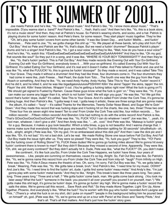 I just sat here and read the whole thing... is it bad that I can read it all in his voice