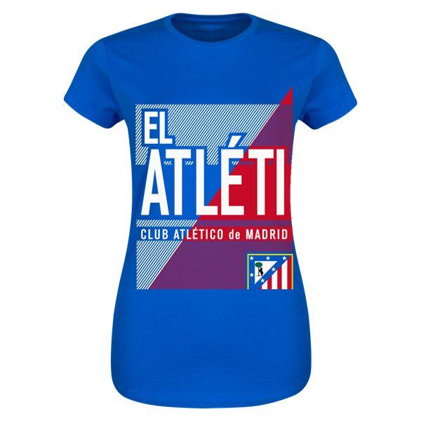 Atletico Madrid El Atleti Junior Womens T-Shirt (Blue)