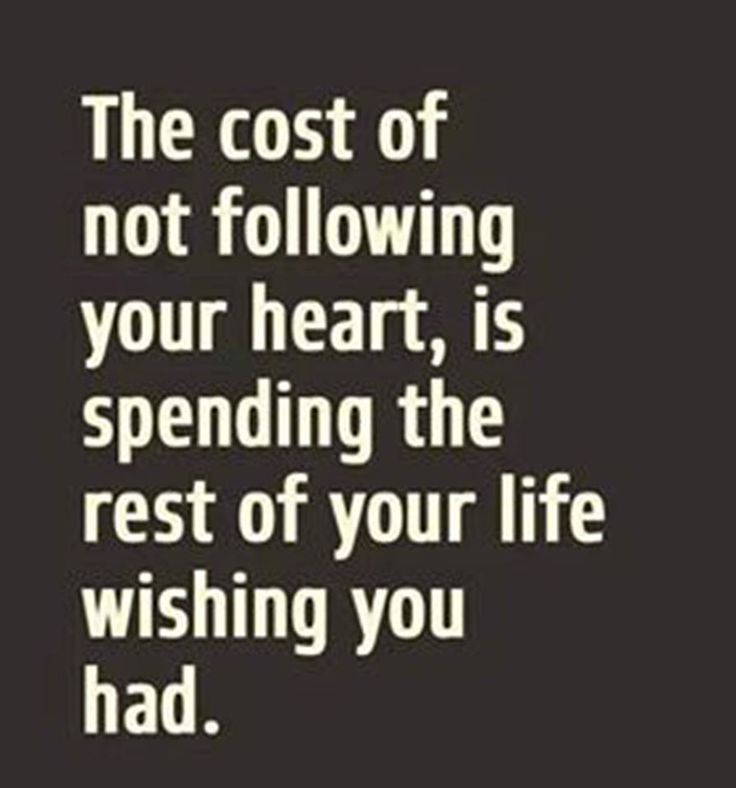 The cost is the rest of your life