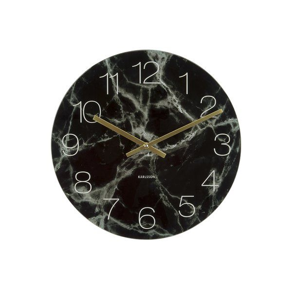 Karlsson By Present Time Clock Excludes 1 Aa Battery Clock Wall Clock Marble Clock