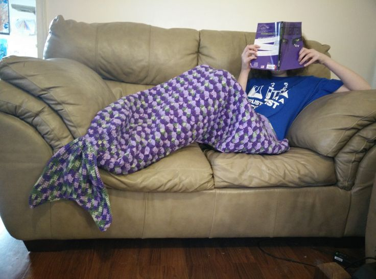 free pattern for Mermaid Tail blanket