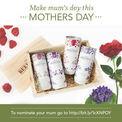 Want to make Mum's day this Mother's Day? Enter our competition and tell us how much you love her. If you're selected as one of the 5 lucky winners we'll personally send her a Beerenberg Botanicals Gift Box in time for Mother's Day. How easy is that? For details on how you can nominate your Mum, click here bit.ly/1cXNPOY