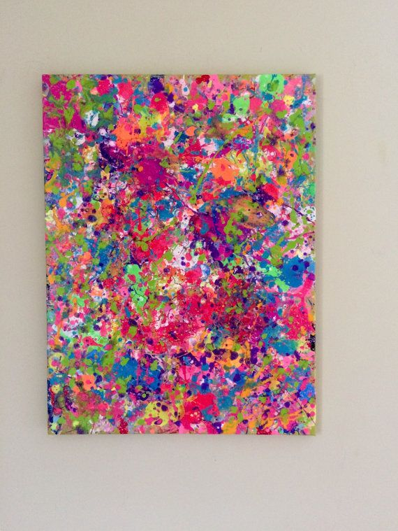 Best 25 splatter paint canvas ideas on pinterest simple for Diy abstract acrylic painting