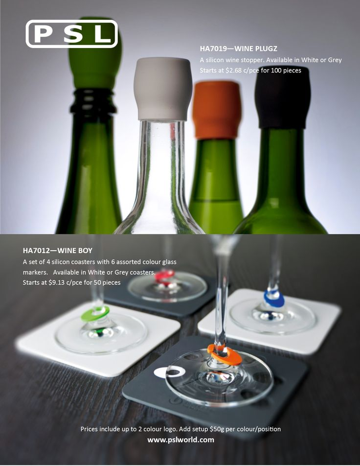 Add some pizzazz to your dinner party with our new line of PSL wine accessories. www.pslworld.com