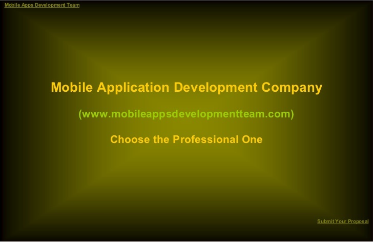 mobile-application-development-company-choose-the-professional-one by George Miller via Slideshare