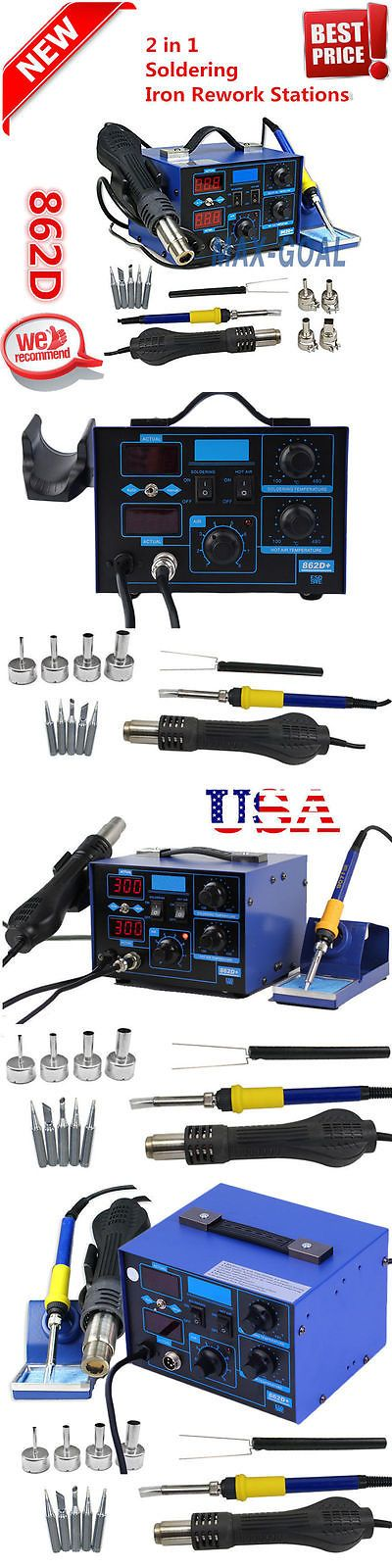 Heat Guns 66797: 2 In1 862D+ 110V Smd Rework Soldering Station+Soldering Iron Welder Hot Air Gun! -> BUY IT NOW ONLY: $45.83 on eBay!