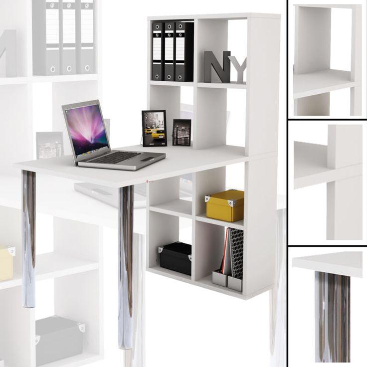 Schreibtisch weiß mit regal  Die besten 25+ Regal weiss Ideen auf Pinterest | Kleine eckbank ...