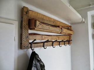 Hacer un colgador para abrigos con palets de madera | Muebles De Palets