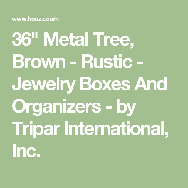 "36"" Metal Tree, Brown - Rustic - Jewelry Boxes And Organizers - by Tripar International, Inc."