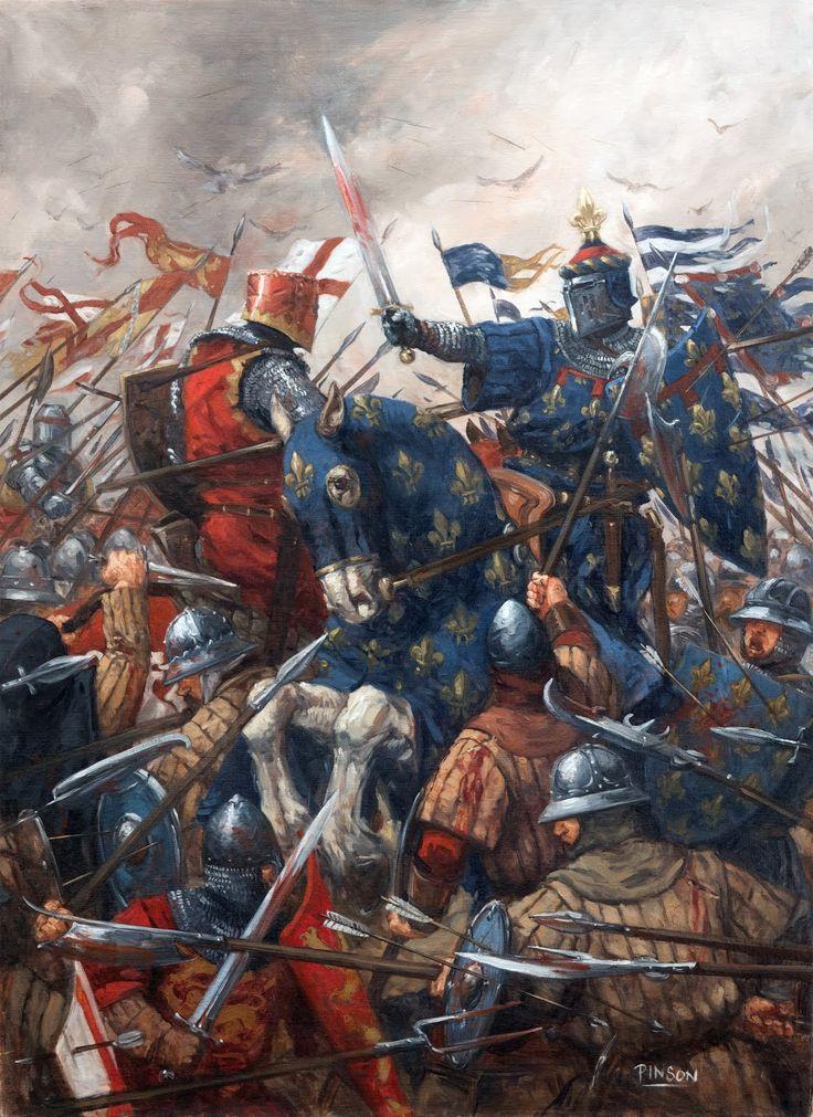 Battle of Agincourt, Hundred Years War. By Ugo Pinson http://ugopinson.blogspot.com/p/galerie_11.html