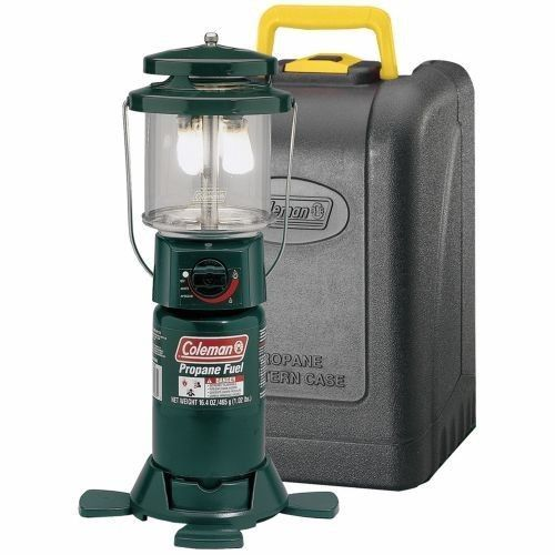Propane Camping Lantern Coleman Deluxe With Carrying Case Hunting Fishing Gas #Coleman