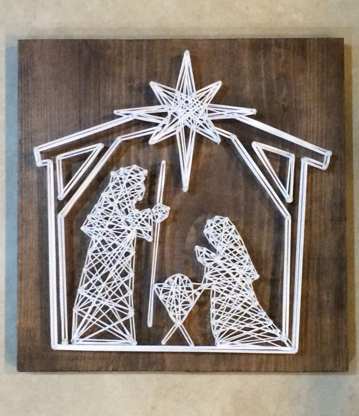 Nativity Christmas Holiday String Art Christian Wall Hanging on Wood by strungbybrianne on Etsy https://www.etsy.com/listing/455643628/nativity-christmas-holiday-string-art